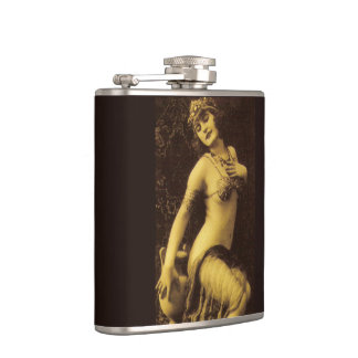 Flapper in Sepia 1 Hip Flask