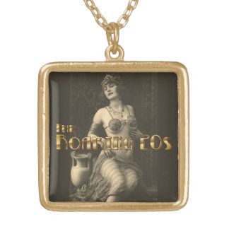 Flapper in Sepia 2 Gold Plated Necklace