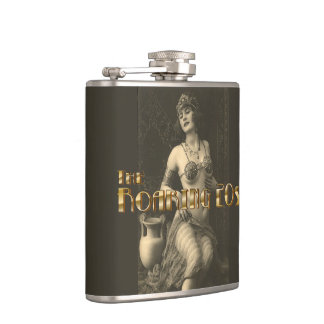 Flapper in Sepia 2 Hip Flask