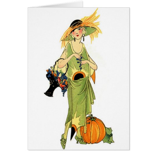 Flapper with pumpkin card
