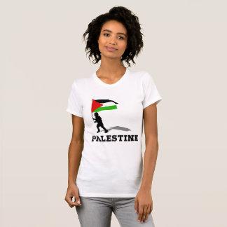 Flapping Palistene Flag Woman T Shirt