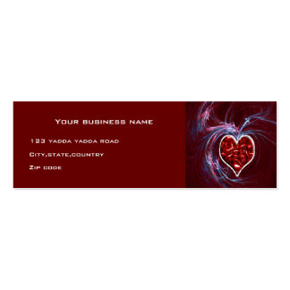 flare heart business card