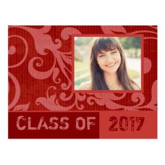 Flare Red Graduation Invitation Postcard