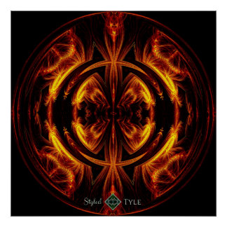 Flare Sphere Poster