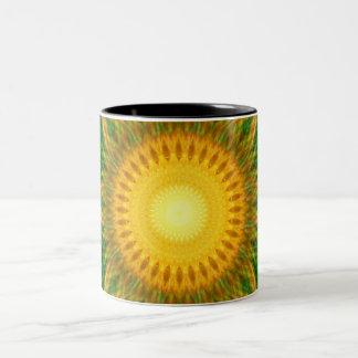 Flare Star Mandala Two-Tone Coffee Mug
