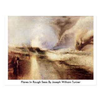 Flares In Rough Seas By Joseph William Turner Postcard