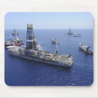 Flaring operations conducted by the drillship mouse pad