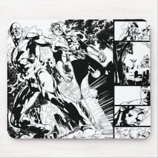 Flash and Green Lantern Panel 2 Mouse Pad