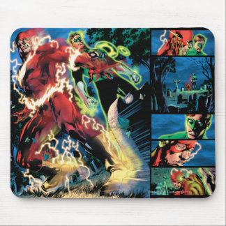 Flash and Green Lantern Panel Mouse Pad