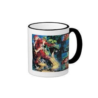Flash and Green Lantern Panel Ringer Coffee Mug