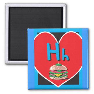 Flash Card Letter H Magnet