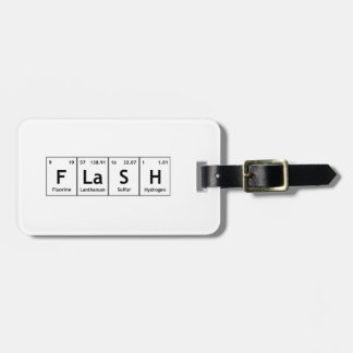 FLaSH Chemistry Periodic Table Element Symbols Luggage Tag