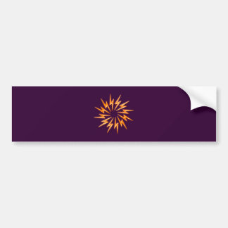 Flash circle flashes circle bumper sticker
