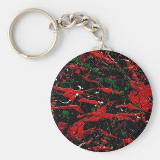 FLASH FIRE (an abstract art design) ~ Basic Round Button Keychain