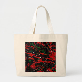 FLASH FIRE (an abstract art design) ~ Jumbo Tote Bag