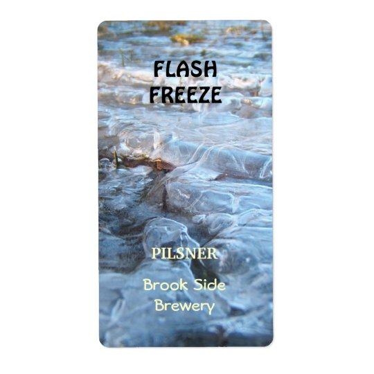 Flash Freeze ~ Beer bottle Label Shipping Label