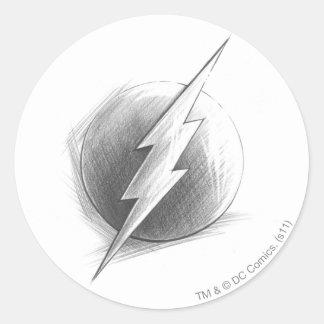 Flash Insignia Round Stickers