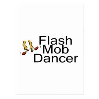 Flash Mob Dancer Postcard