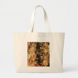 flash of rough yellow stones large tote bag
