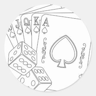 flash royal classic round sticker