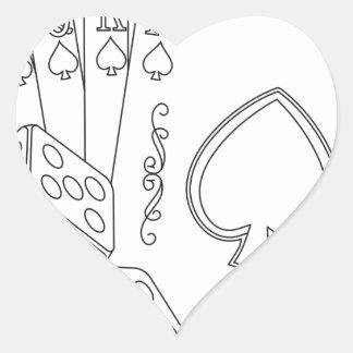 flash royal heart sticker