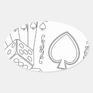 flash royal oval sticker