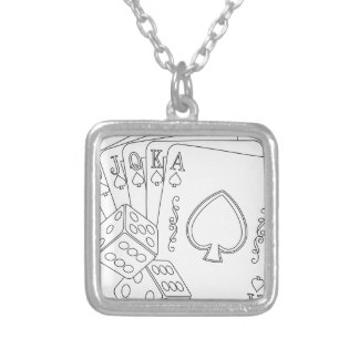 flash royal silver plated necklace