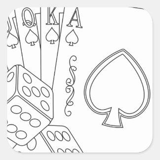 flash royal square sticker