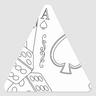 flash royal triangle sticker