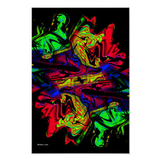 Flashback Modern Abstract Art Poster