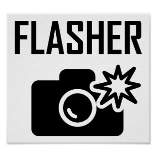 Flasher Funny Poster