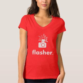 Flasher Photographer Camera T-Shirt