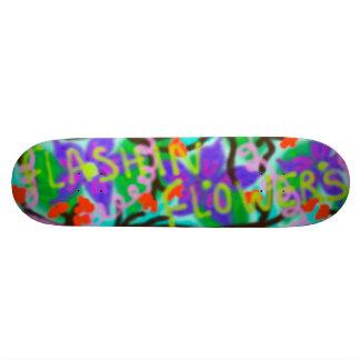 Flashin' Flowers Graffiti Custom Skateboard