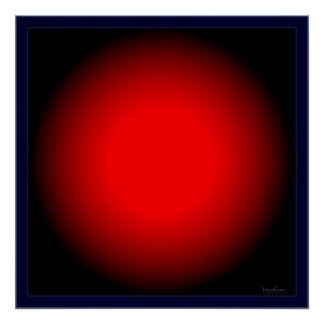 Flashing Red Bulb Optical Illusion Poster