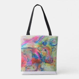 Flashy Cow Tote Bag