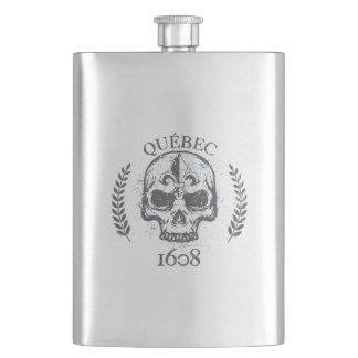 Flask gourd alcohol Quebec Skull/Biker Skull