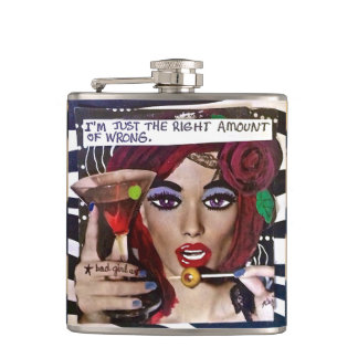 FLASK-I'M JUST THE RIGHT AMOUNT OF WRONG. FLASKS