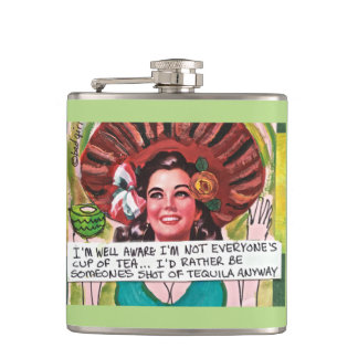 FLASK-I'M WELL AWARE I'M NOT EVERYONE'S HIP FLASK