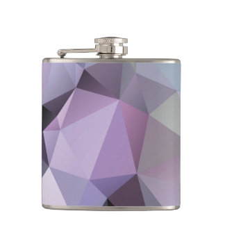 Flask: Polygon Design-Shades of Purple & Lavender Hip Flask