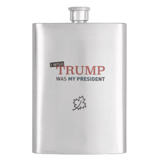 Flask Silver Wish Trump as my President Canada