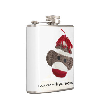 flask sock monkey