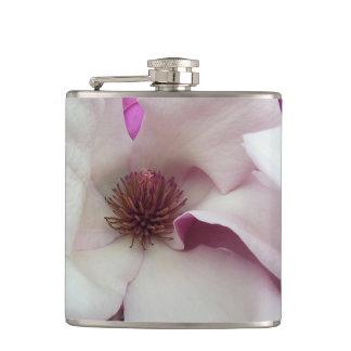 Flask - Vinyl Wrapped - Saucer Magnolia Bloom