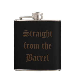 Flask whiskey straight from the barrel