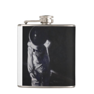 Flask with astronaut