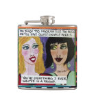FLASK-YOU DRINK TOO MUCH, YOU CUSS TOO MUCH HIP FLASK