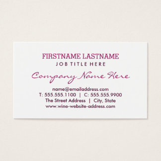 Flat Business Card | Burgundy Red Wine Stain Rings