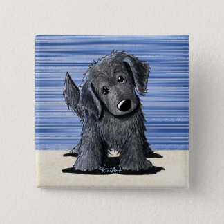 Flat Coated Retriever 2 Inch Square Button