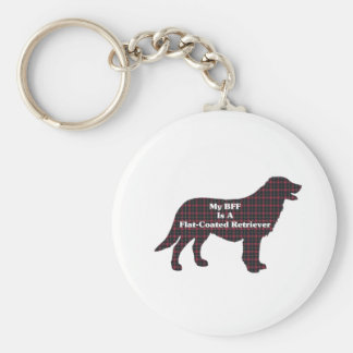 Flat-Coated Retriever BFF Gifts Basic Round Button Keychain