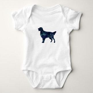 Flat Coated Retriever Black Watercolor Silhouette Baby Bodysuit