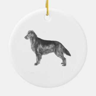 Flat Coated Retriever Ceramic Ornament